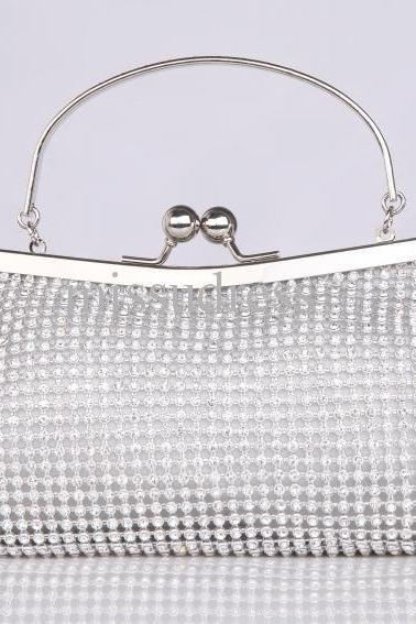 Hot Sale Overall Diamonds Handbags In Stock Fashion Crystals Wedding Bridal Bags Wedding Party Accessories Jewelry